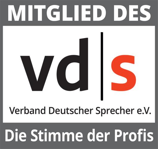 Mitglied des vd|s - Verband Deutscher Sprecher e.V.